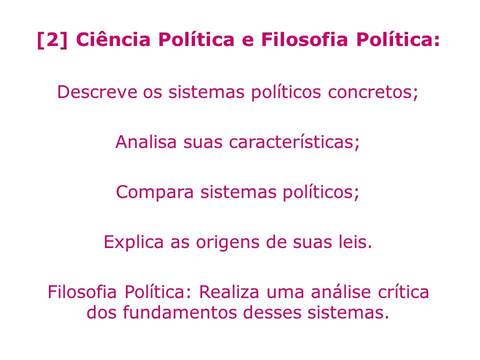 [2] Ciência Política e Filosofia Política:
